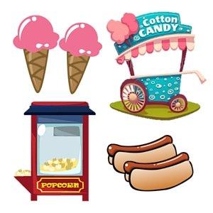 Popcorn Candy Floss Hotdog ice cream