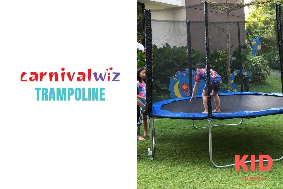 Bouncing workout trampolin for rent or hire in SIngapore