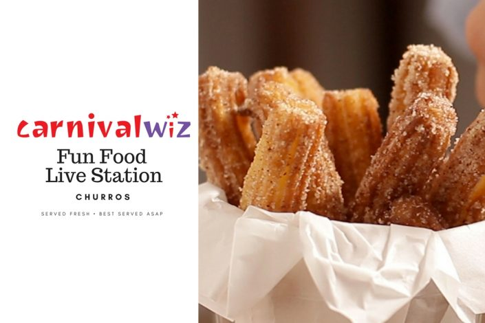 churros traditional carnival snack fun food live station pasar malam