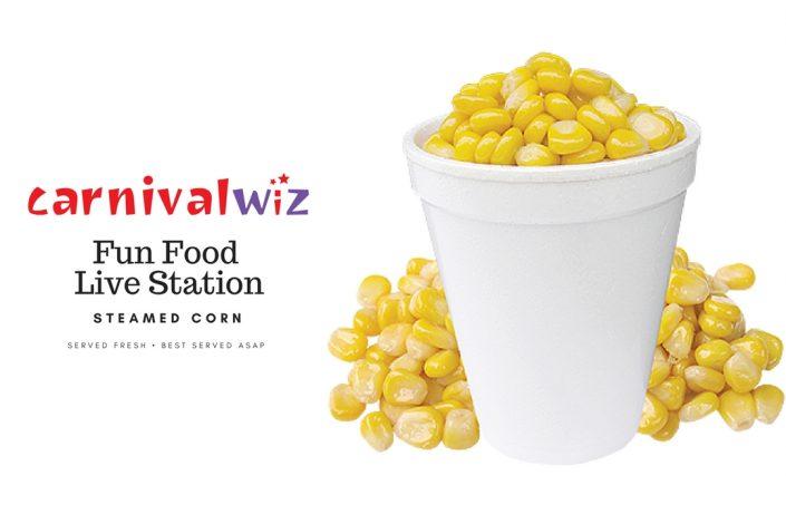 steam corn pasar malam carnival live food station stall