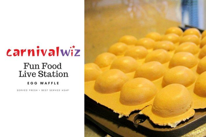 Egglet Waffle traditional carnival snack fun food live station pasar malam Hong Kong egglet