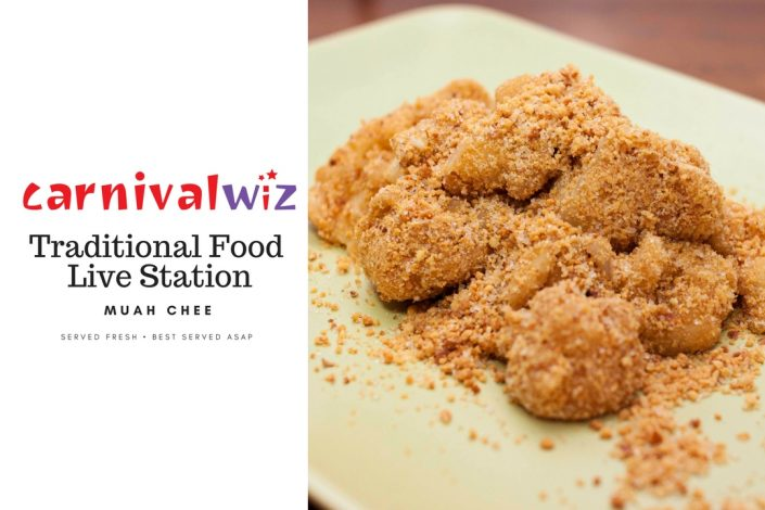 pasar malam traditional snack muah chee live carnival fun food station singapore