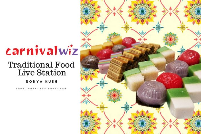 Picture of nonya kueh for event in Singapore