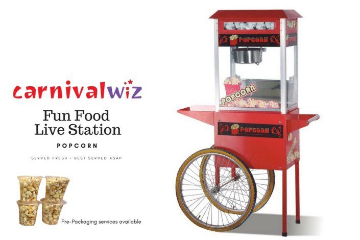 pasar malam traditional snack popcorn live carnival fun food station singapore
