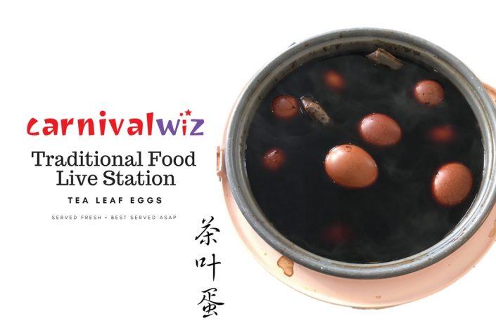 tea leaf eggs traditional carnival snack fun food live station pasar malam