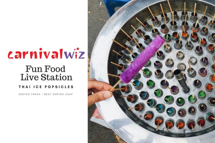 thailand ice popsicle traditional carnival snack fun food live station pasar malam