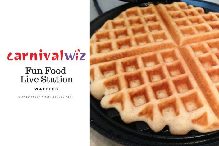 Waffle traditional carnival snack fun food live station pasar malam