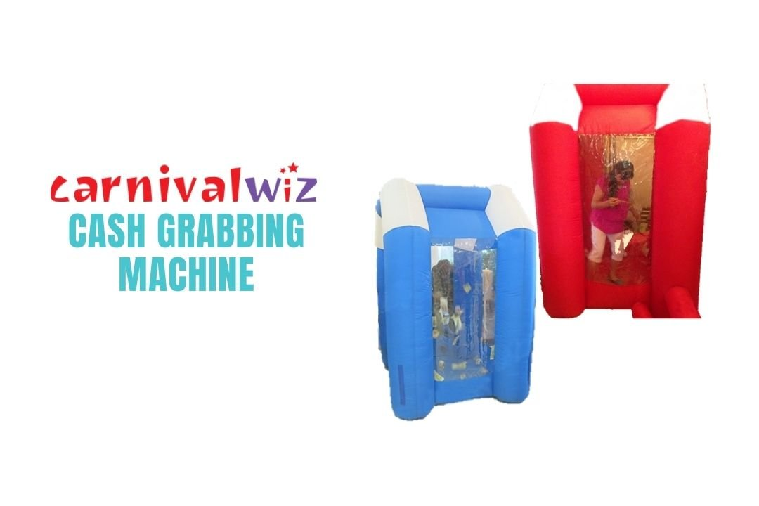 Inflatable cash grabbing machine for rent or hire in Singapore