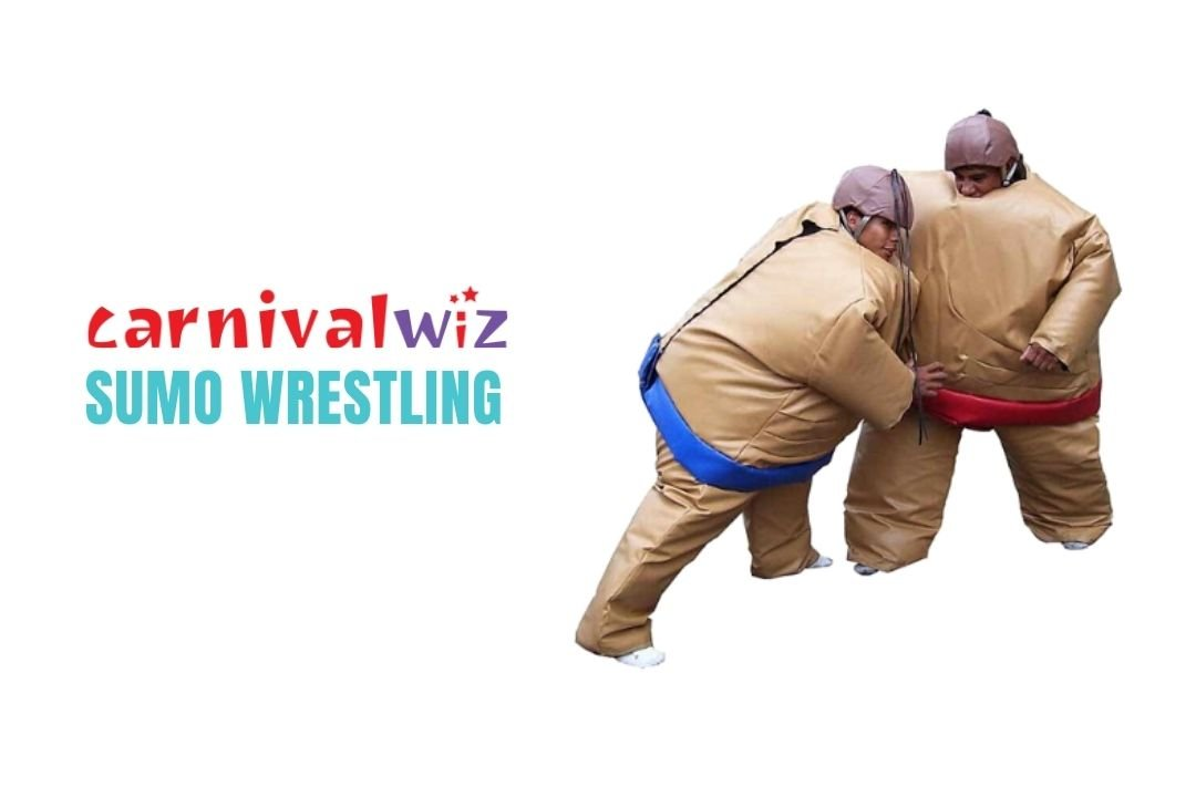 wrestlers in sumo wrestling inflatable suits for rent or hire in Singapore