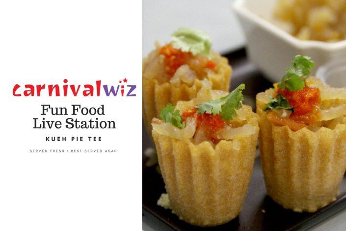 kueh pai tee traditional carnival snack fun food live station pasar malam