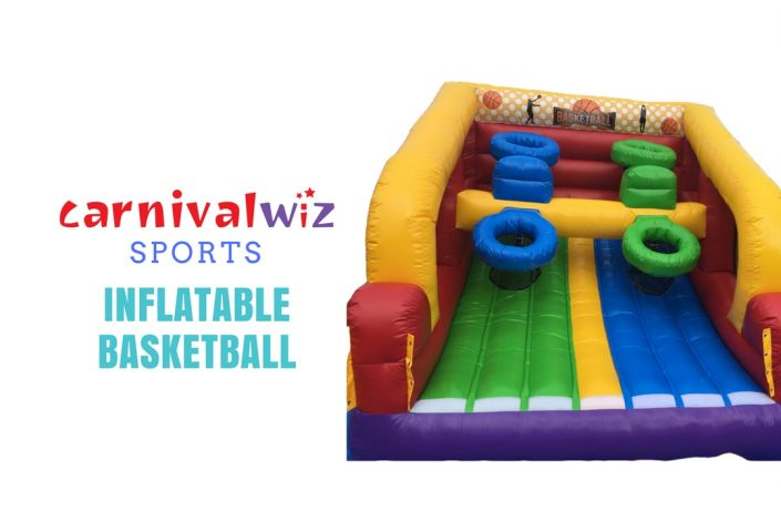 Rent basketball machine inflatable carnival events party