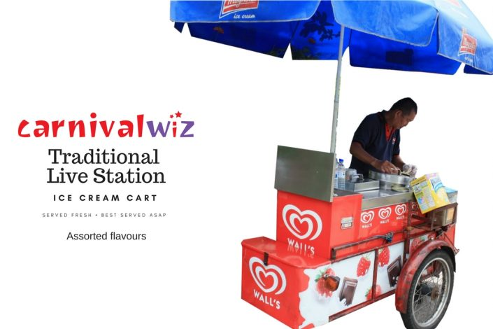 traditional ice cream cart carnival pasar malam fun fair food and drinks street hawker style