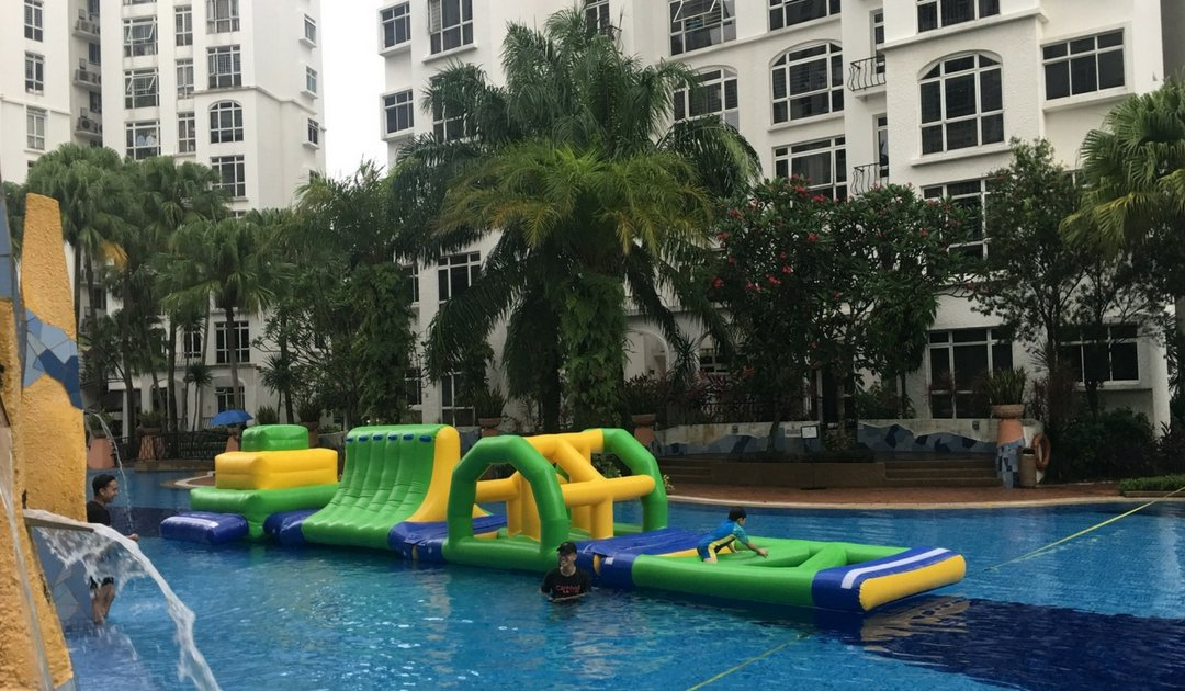 water carnival obstacle course