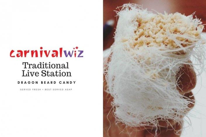 Pasar malam fun fair carnival snack live stall vendors dragon beard candy