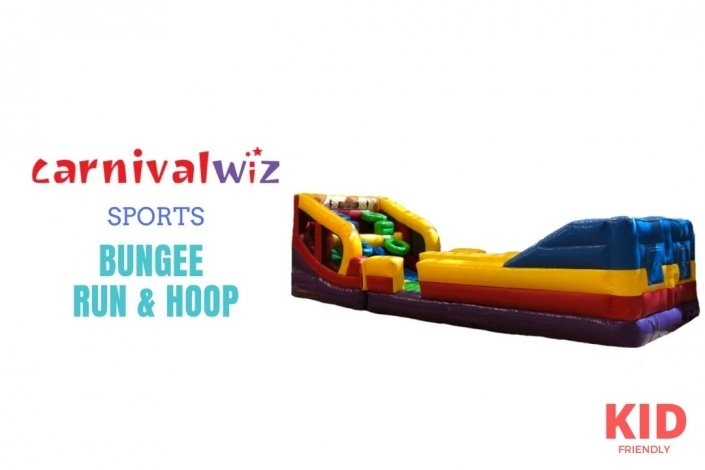 Sports bouncing and running inflatable basketball with bungee for event, carnival and party rent or hire in Singapore
