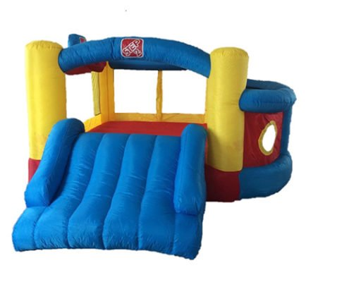 Cheap Inflatable bouncing bouncy castle with bouncer and slide for rent or hire in Singapore party