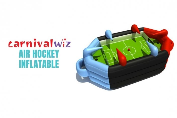 Picture of inflatable air hockey table for rent in Singapore