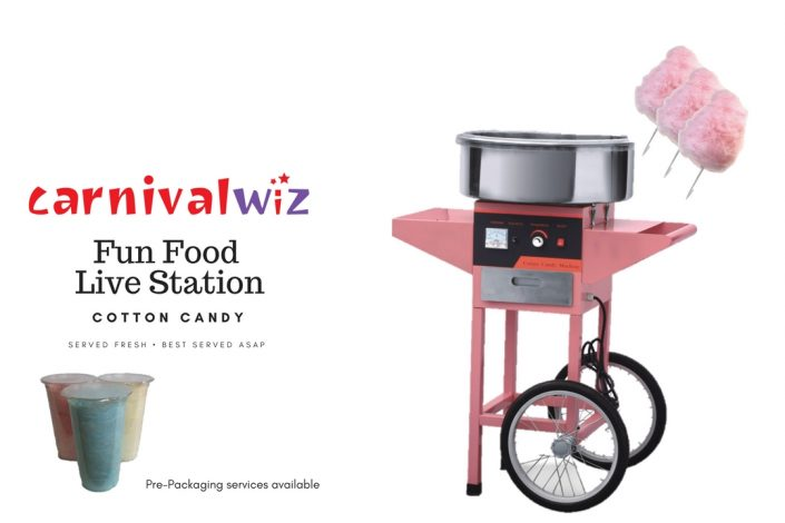 cotton candy floss cart pasar malam carnival live food station stall
