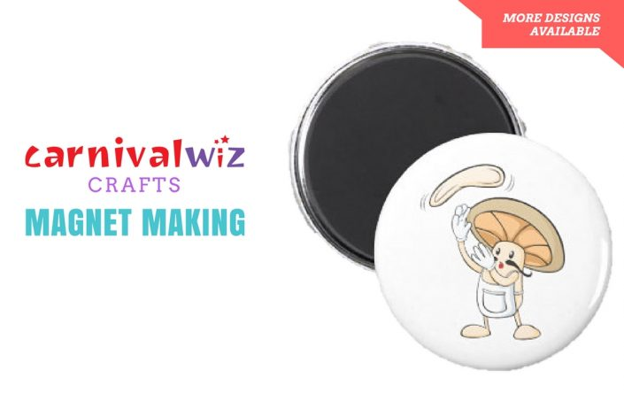 Picture of DIY design on round magnet art and craft activity singapore