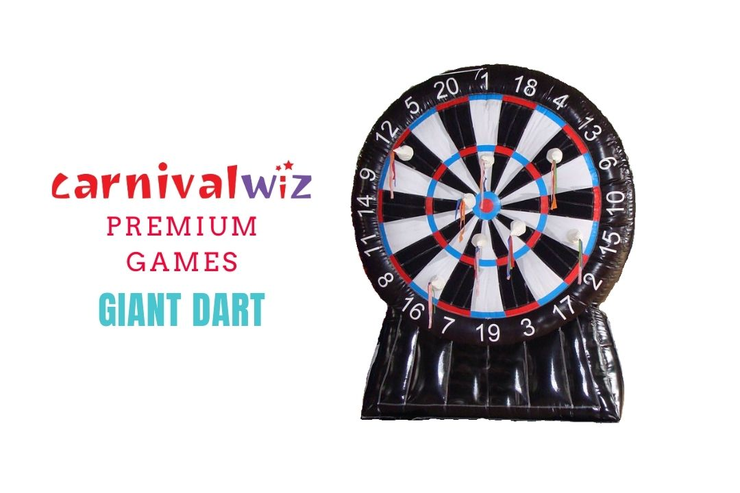 Picture of large inflatable dart board game