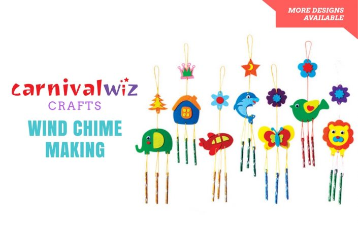 art and craft activity for kids diy wind chime bell