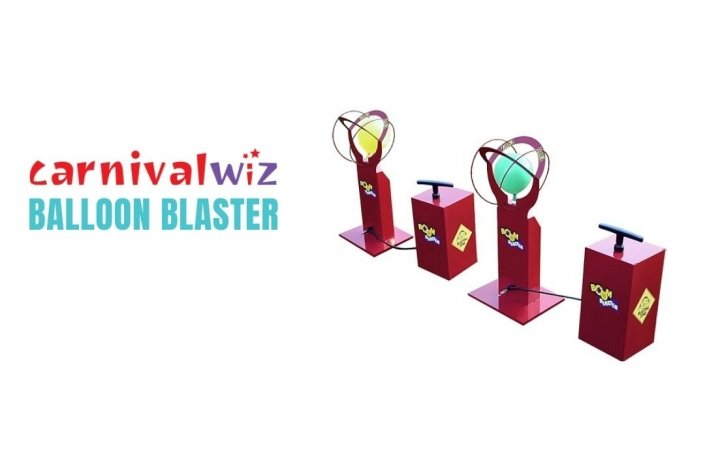 ballon Blaster for rent or hire in Singapore team building and carnival game stalls