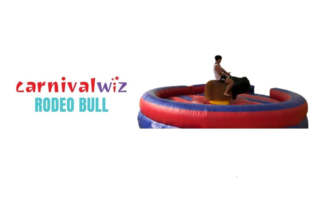 Mechanised Rodeo Bull Inflatable for rent or hire in Singapore team building or carnival