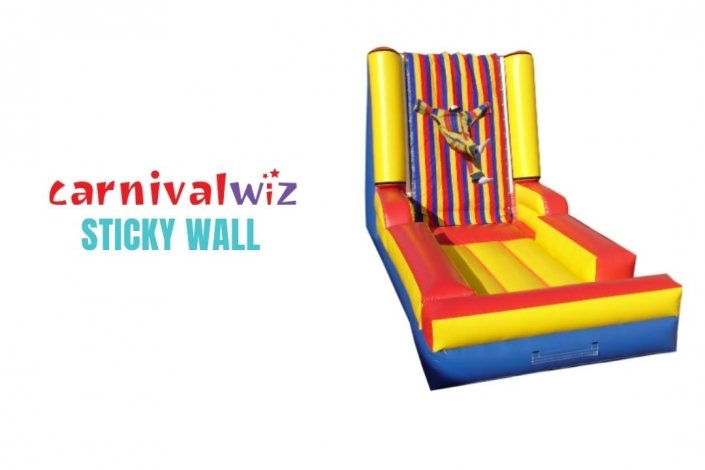 Sticky Velcro Wall Inflatable for rent or hire in Singapore team building or carnival