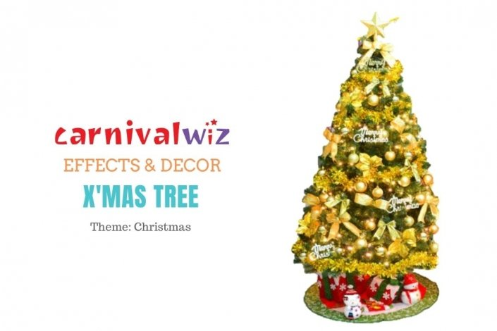 xmas tree decoration setup special effects Singapore party carnival and event