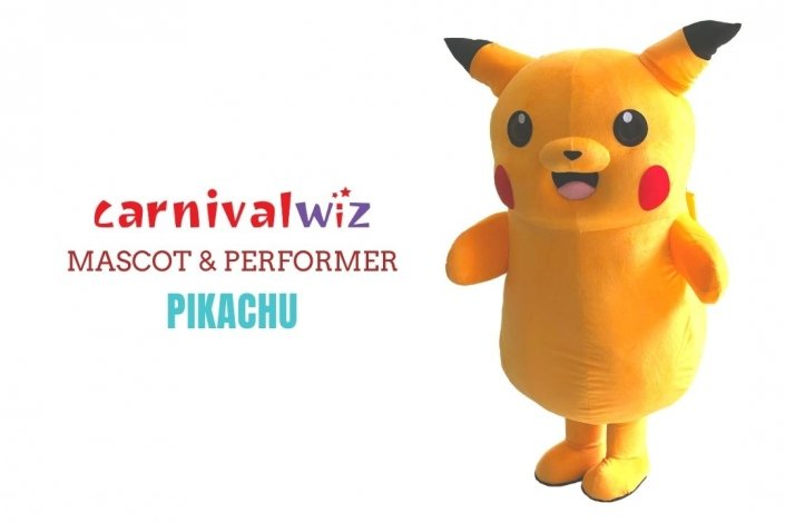 Pikachu Mascot Costume carnival anime pokemon movie character Classic cartoon Character Fancy Dress Cartoon Suit rental singapore