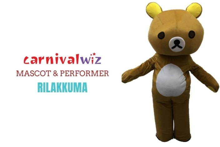Rilakkuma Mascot Costume carnival anime movie character Classic cartoon Character Fancy Dress Cartoon Suit Rental Singapore