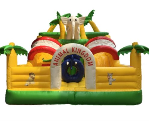 Cheap Large hawaiian african safari themed bouncing castles for carnivals, parties, birthdays, celebrations, family days and events rent or hire