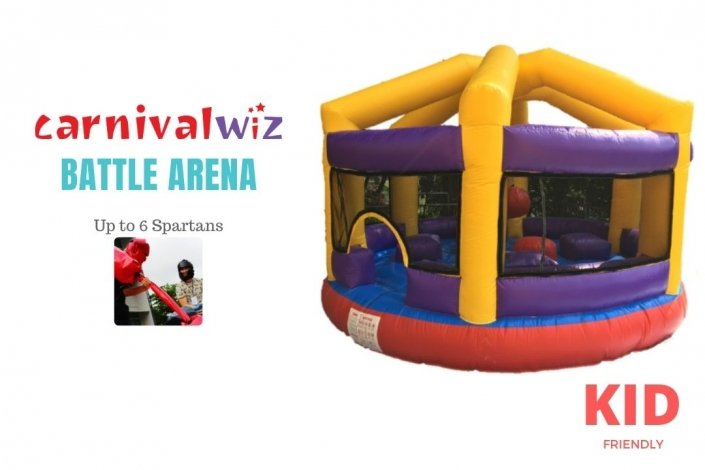 Gladiator joust and wrecking demolition ball for carnivals, parties, birthdays, celebrations, family days, schools open house and events rent or hire
