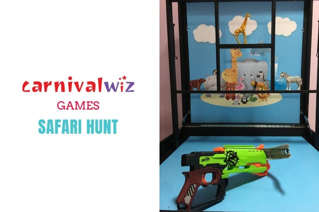 fun fair zoo animal safari shooting and hunting carnival style fun booth for event rental singapore