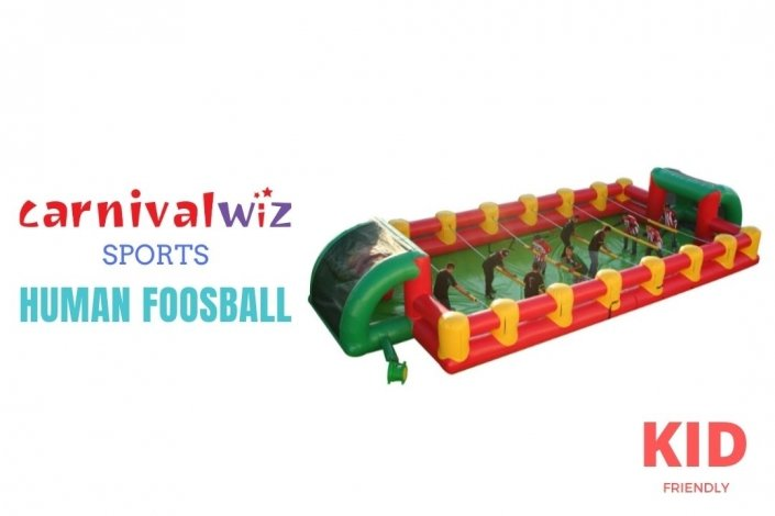 inflatable soccer human foosball for rental in Singapore