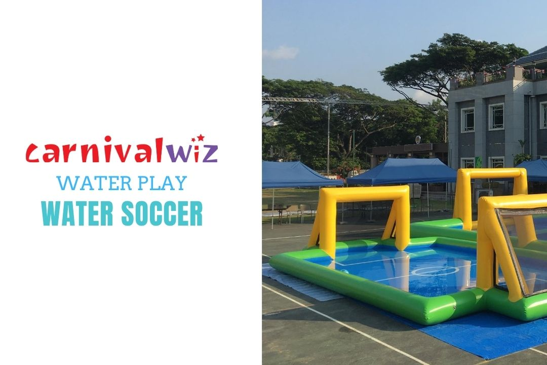 Rent Inflatable water football field for fun team building in schools, carnivals and events