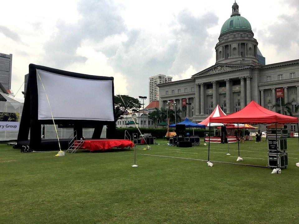 Inflatable Movie Screen Rental Singapore - Carnival Wiz