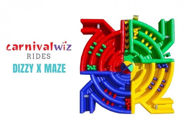 Dizzy X Maze inflatable rental singapore