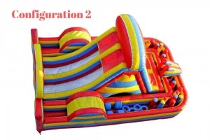 Inflatable standard obstacle race course rental Singapore