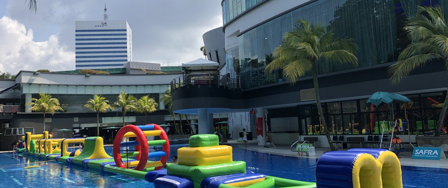 water carnival Singapore swimming pool float rental