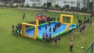 inflatable water soccer for rent Singapore