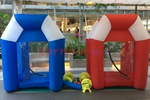 inflatable cash money blowing machine rental singapore