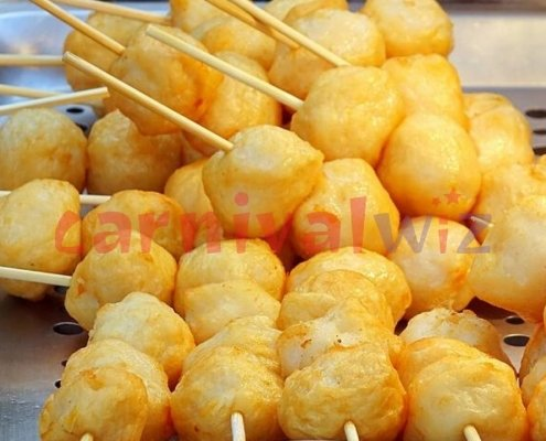 pasar malam fun fair carnival food live catering fish ball vendors
