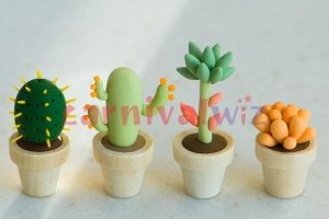 potted plant clay art singapore