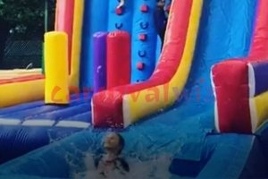 sports climb with pool inflatable rental singapore