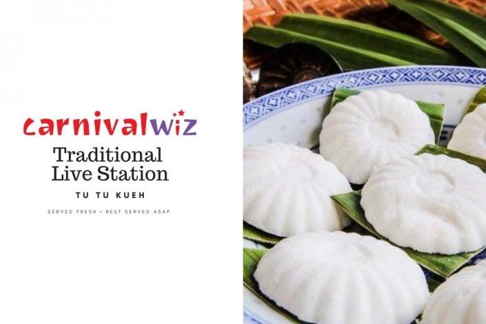 Pasar malam fun fair carnival snack live stall vendors kueh tutu