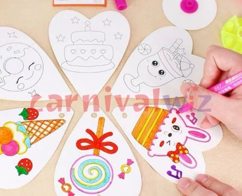 wind mill colouring for kids