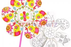 wind mill colouring art and craft singapore