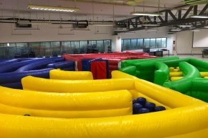 carnival inflatable maze spinning game