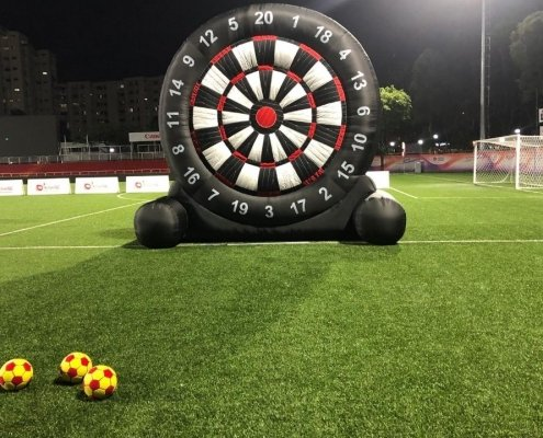 Inflatable Mega Darts Game Recreation Inflatable Soccer Dartboard Human Dart Rent in Singapore